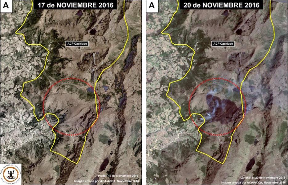 Imagen satelital del área de conservación privada Chicuate-Chinguelas. Foto: Conservación Amazónica - ACCA , Amazon Conservation Association - ACA y Planet.