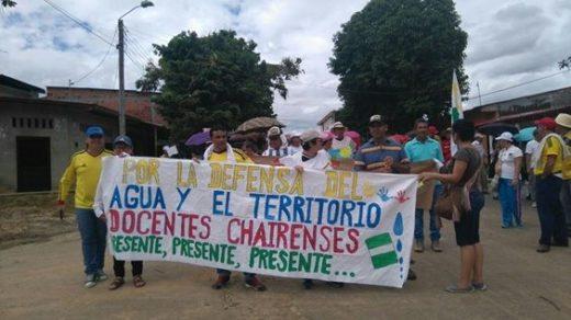En Cartagena del Chairá la comunidad se movilizó por la defensa del agua. Fotografía: Francia E. Chilatra.