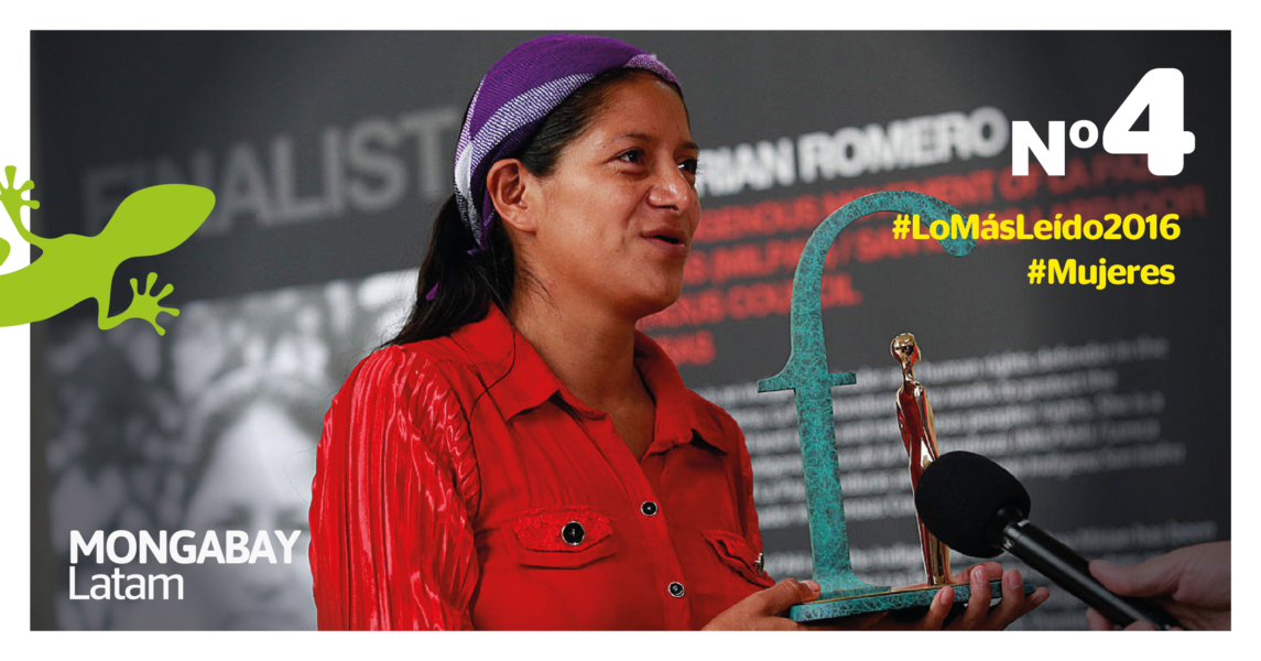 Ana Miriam Romero: Foto: Goldman Prize.
