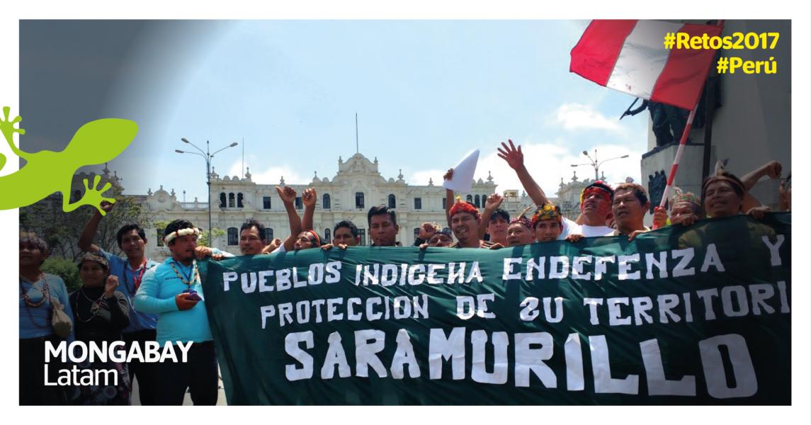 Protesta indígena por los derrames petroleros en Loreto. Foto: Milton López Tarabochia.