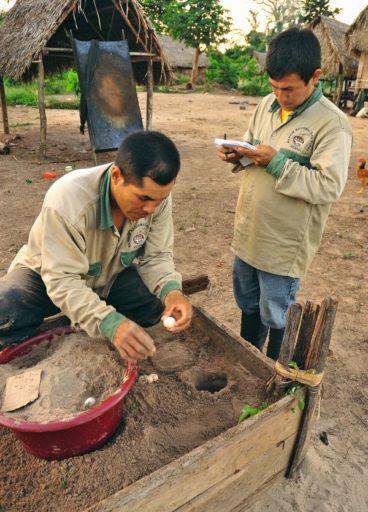 Las dos áreas protegidas están a cargo del SERNANP, la institución estatal encargada de las ANP del Perú. En el Purús el SERNANP viene impulsando interesantes proyectos productivos. Foto de Diego Pérez, WWF Perú