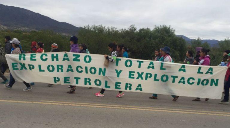 Comuneros llevan meses manifestando su desacuerdo a la exploración de hidrocarburos en la reserva. Foto: cortesía de Gonzalo Torrez.