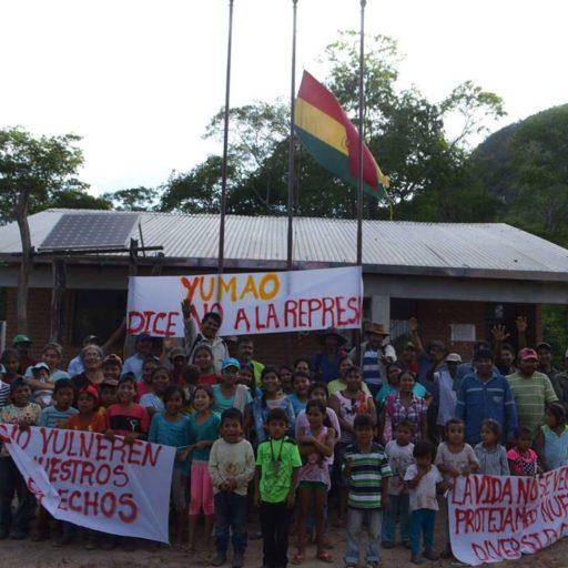 La comunidad indígena guaraní Yumao se opone a la construcción de la hidroeléctrica Rositas. Foto: Suceth Rodríguez.