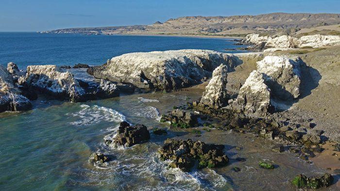 La península de Illescas en el mar del norte del Perú. Foto: Yuri Hooker.