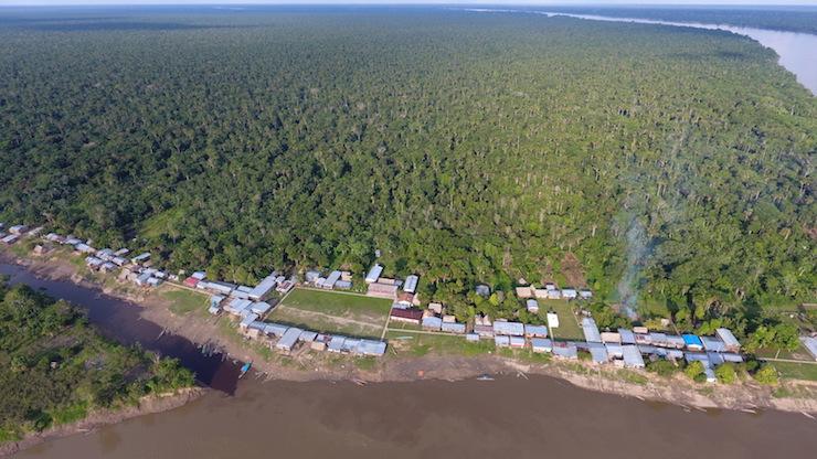 Vista aérea de la Comunidad Nativa de Cuninico en Loreto. Foto: Copyright © Amnistía Internacional.