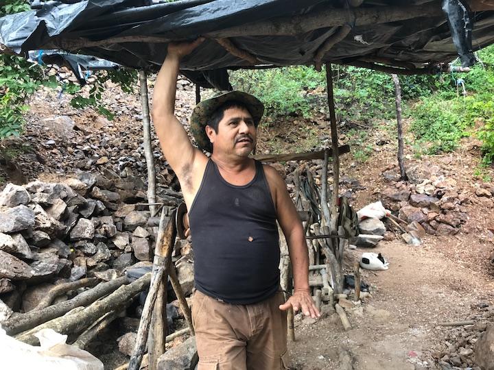Bernardo Laguna, uno de los siete mineros denunciados. Foto: Onda Local.
