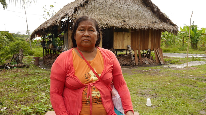 La madre de Fidel Sandi, Anacha Hualinga. Foto: Dan Collyns.