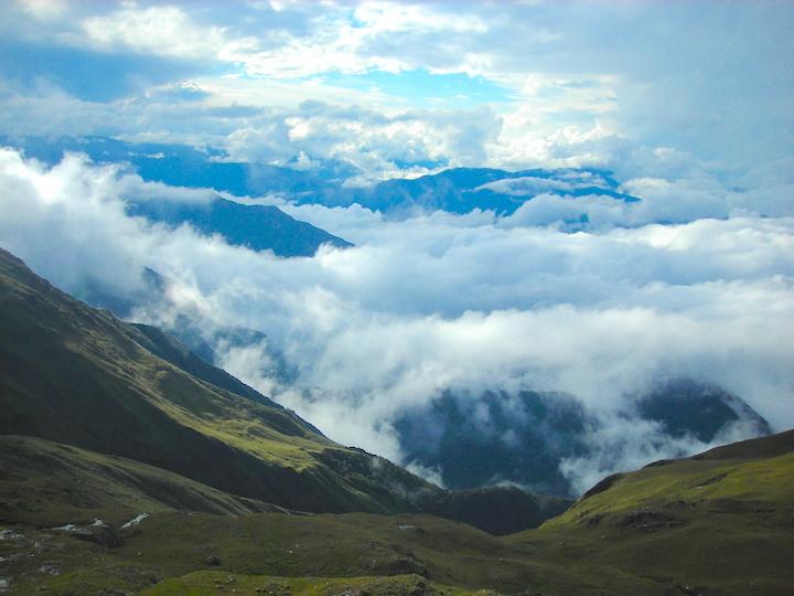 Los bosques nublados en el Parque Nacional Carrasco donde habita la rana de agua Sehuencas. Foto: Arturo Muñoz.