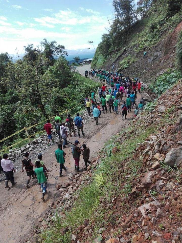 Marcha de indígenas Emberá por la muerte de líder asesinado. Foto: ONIC.
