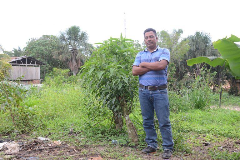 Huber Flores, de la comunidad Santa Clara de Uchunya, ha denunciado amenazas. Foto: Yvette Sierra Praeli.