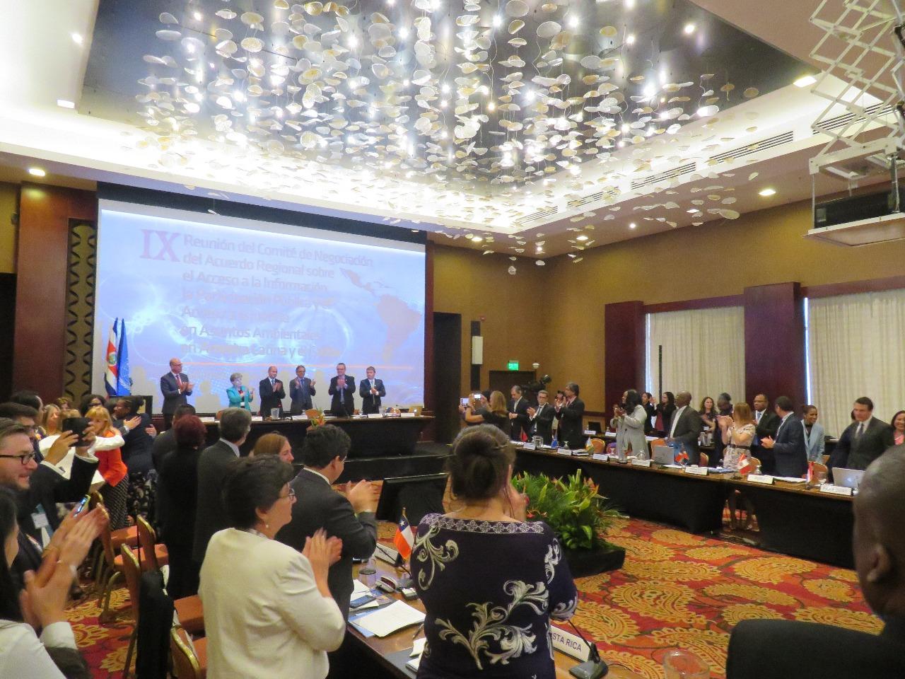 El denominado Principio 10 reunió a 24 representantes de países de Latinoamérica y El Caribe en Costa Rica. Foto: DAR