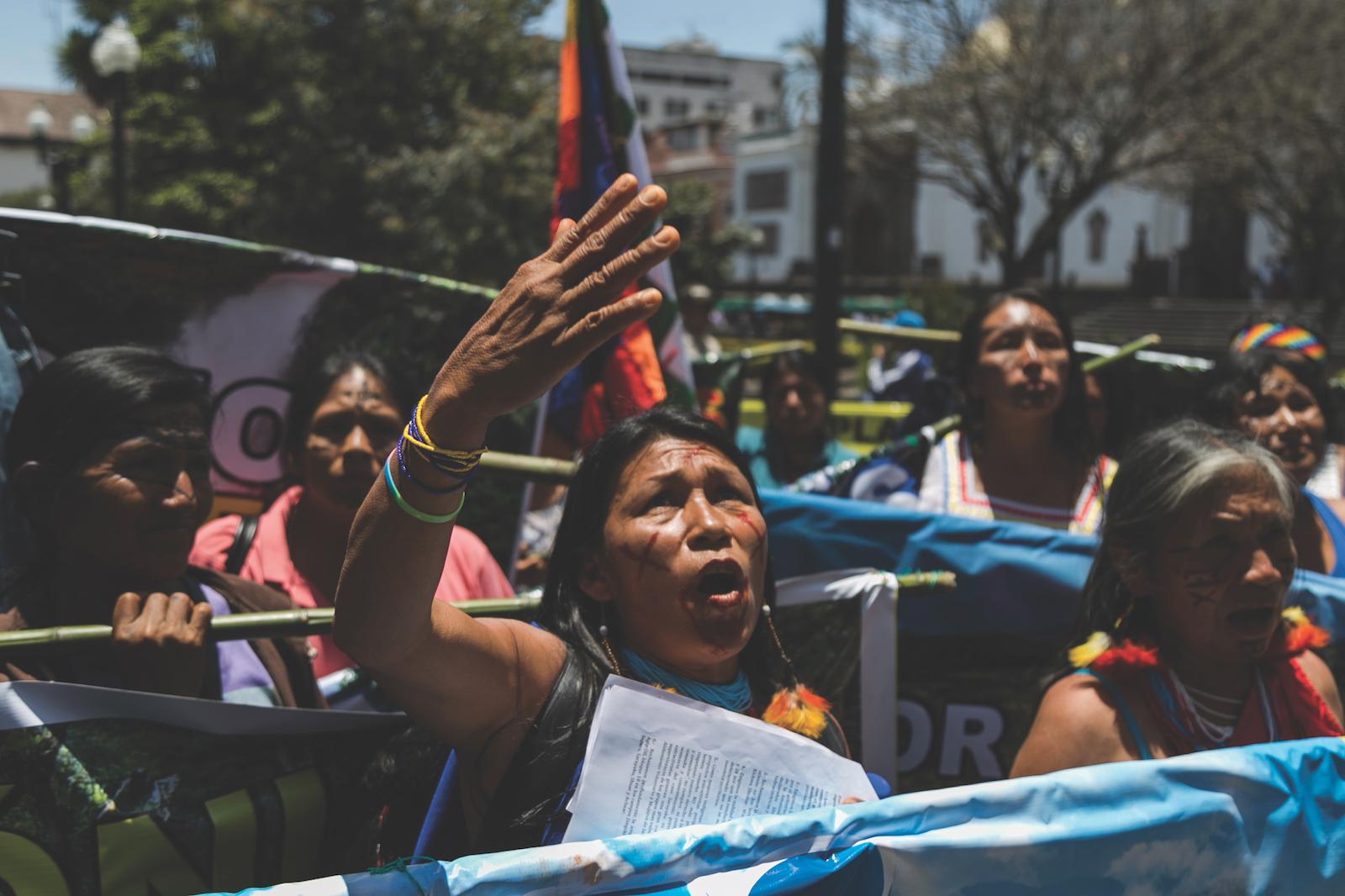 Más de 300 mujeres indígenas de todo el Amazonas se juntaron durante tres días para escribir el mandato que esperan entregarle al presidente Moreno. Foto: Jonatan Rosas.