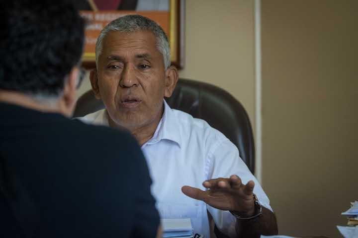 """Rotland Reátegui, vice gobernador de la Región San Martín: """"Queremos dar prioridad a los productores siempre y cuando sean respetuosos de las normas y la institucionalidad ambiental"""". Foto: Aldo Arozena."""
