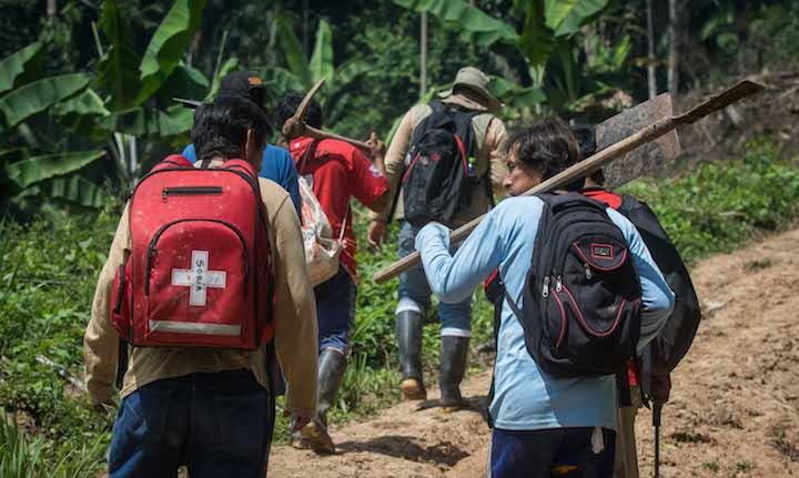 Las brigadas de trabajo estuvieron constituidas por pobladores locales previamente capacitados por los equipos técnicos del Gobierno Regional San Martín. Foto: Aldo Arozena.
