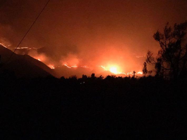 El incendio del 2017 en Sama. Foto: Sernap.