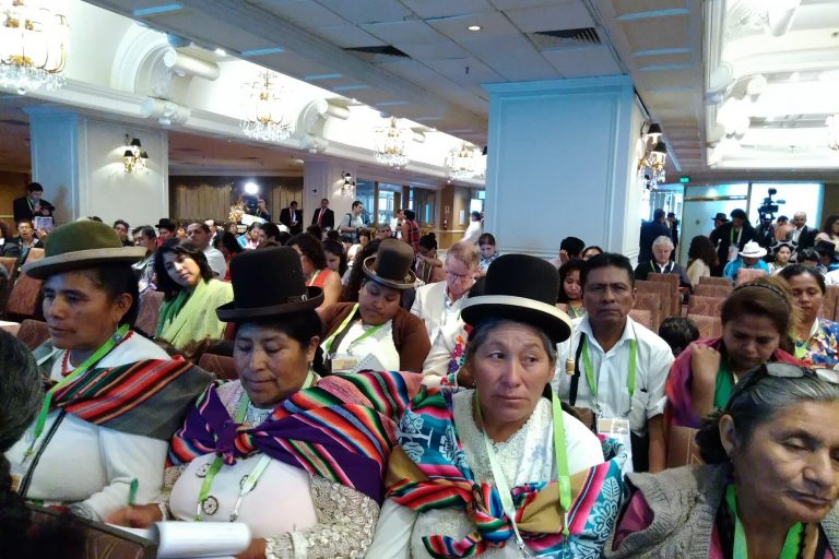 Representantes de Perú, Colombia, Bolivia, Ecuador y otros países de América Latina se reunieron en Lima en el Foro de los Pueblos Indígenas. Foto: Yvette Sierra Praeli.
