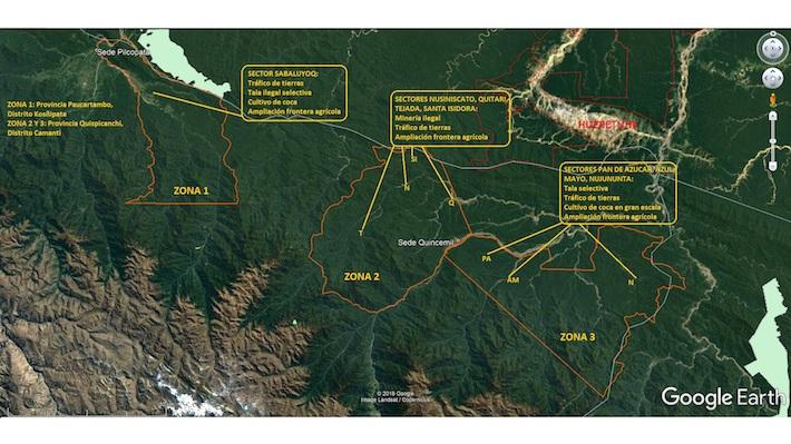 Las tres zonas que comprenden los Bosque Protectores de Camanti están degradadas y amenazadas por distintas actividades. Hasta ahora no se ha hecho mucho por detener este problema. Foto: Serfor Cusco.