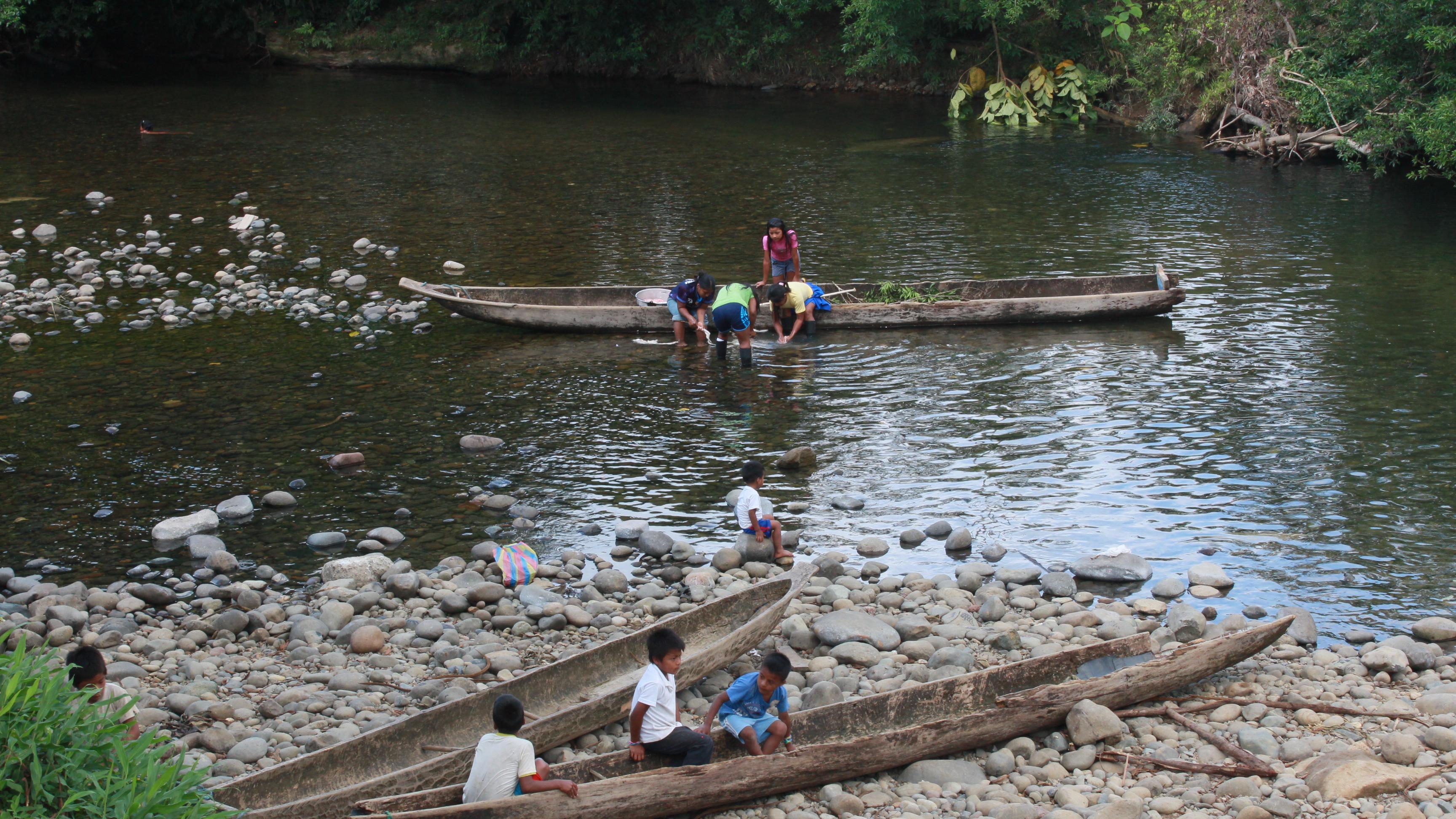 Comunidades Awá en el norte de Ecuador. Foto: Comunidad Awá Pambilar.