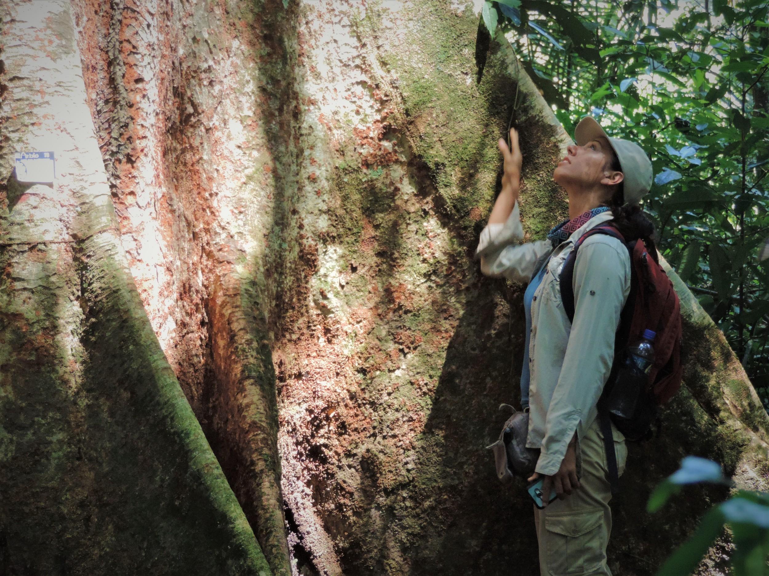La ingeniera forestal Tatiana Espinosa lidera el proyecto Arbio Perú, una propuesta de conservación de bosque en la Amazonía peruana que le ha valido el reconocimiento del Jane Goodall Hope and Inspiration Ranger Award. Foto: Arbio Perú