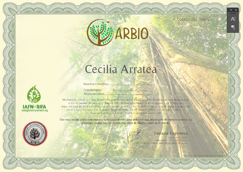 El nuevo proyecto de Arbio, adopta un árbol, será lanzado en junio de este año. Foto: Arbio Perú.