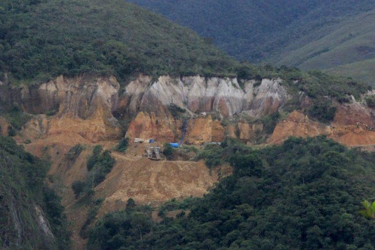 La minería ilegal también se ha instalado en el parque Bahuaja Sonene. (Foto: Vanessa Romo).