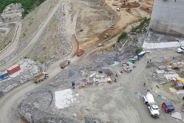 La construcción de Hidroituango comenzó en 2010 y se suponía entraría en operación en noviembre de 2018. Los problemas con la crecida del río Cauca retrasarán la obra por tiempo indefinido. Foto: EPM.