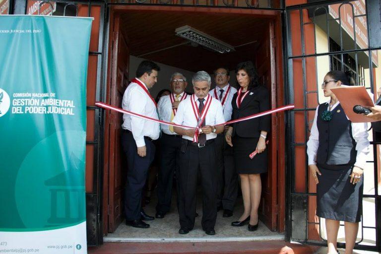 El presidente del Poder Judicial, Duberlí Rodríguez, inauguró el primer juzgado ambiental en Madre de Dios. Foto: Poder Judicial.