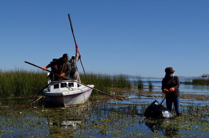Campaña de limpieza del lago Titicaca. Foto: Ministerio del Ambiente.