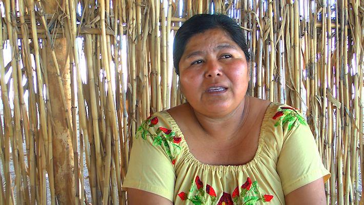 Anabela Carlón, abogada y activista yaqui, durante la entrevista con Mongabay Latam, en Loma de Bácum. Foto: Rodrigo Soberanes.