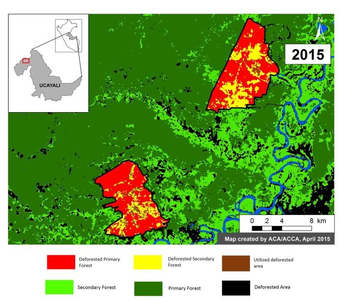 Los cultivos de palma aceitera de Ochosur U y Ochosur P ocupan un territorio de 12 188 hectáreas. Fuente: MAAP.