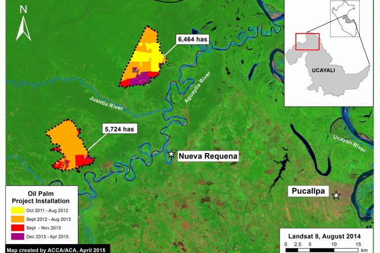 El monitoreo satelital permite contar con pruebas suficientes para sancionar delitos. Fuente MAAP.