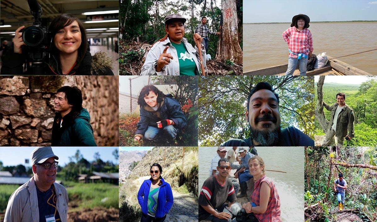 Retratos de algunos de los periodistas de Mongabay Latam. Foto: Mongabay Latam.