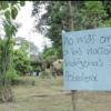 La deforestación de bosque nativo y la falta de permisos ambientales en la construcción de la tubería habría causado daños ambientales y culturales a la comunidad Siona de San José de Wisuyá en la ribera del río Putumayo, entre Ecuador y Colombia. Foto: Amazon Frontlines.
