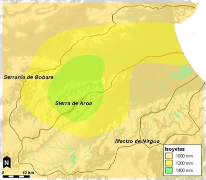 Deforestación en las montañas de la Sierra de Aroa las cuencas de los ríos Aroa y Yaracuy.