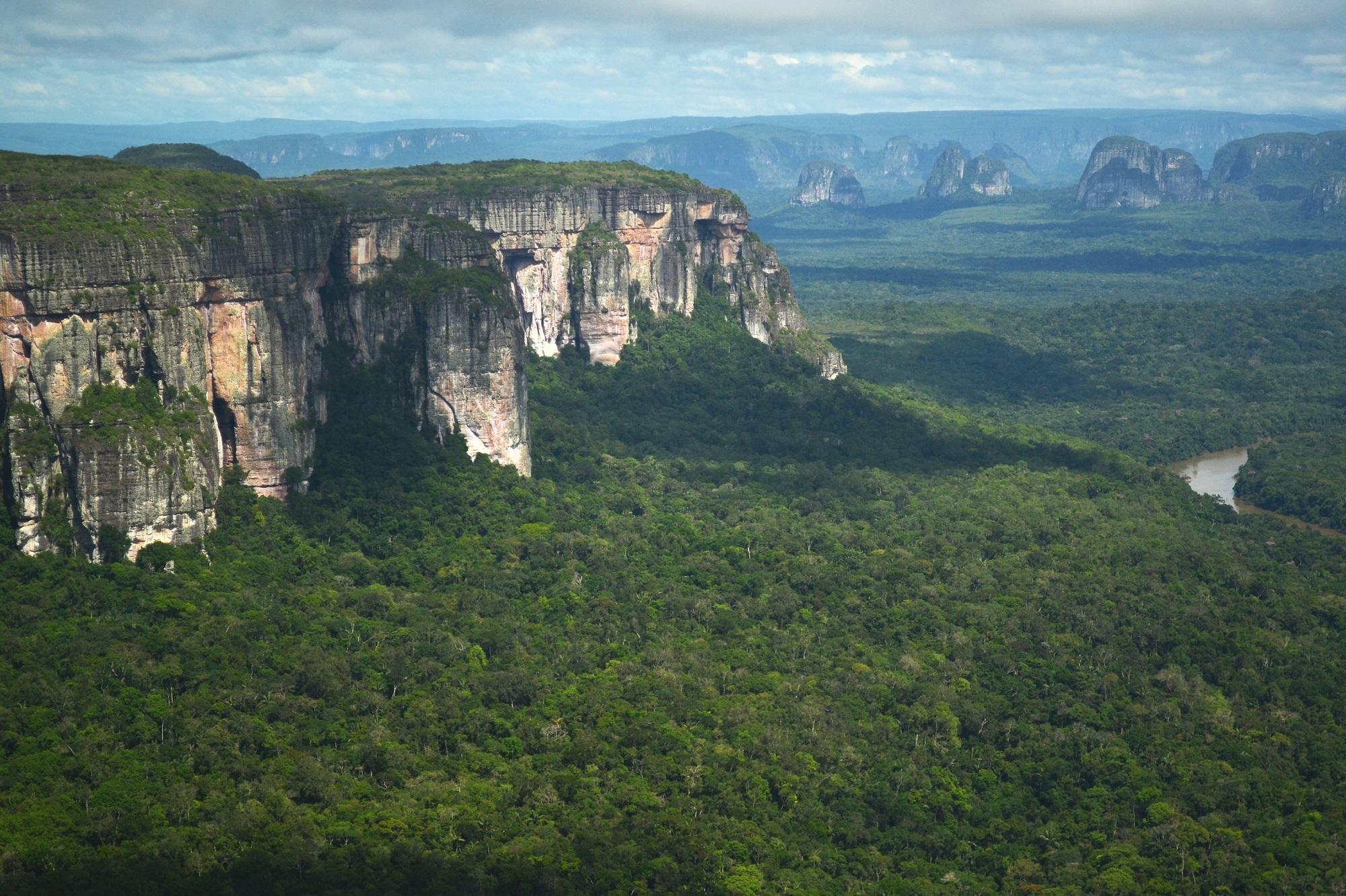 Así se ven desde el aire las majestuosas montañas rocosas en el Parque Nacional Serranía de Chiribiquete. Foto: Amazon Conservation Team