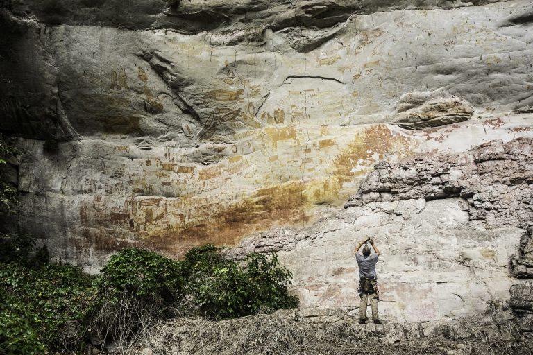 El ICANH y la Universidad Nacional son dos de las instituciones que más investigaciones han hecho sobre estas pinturas rupestres. Foto: Parques Nacionales