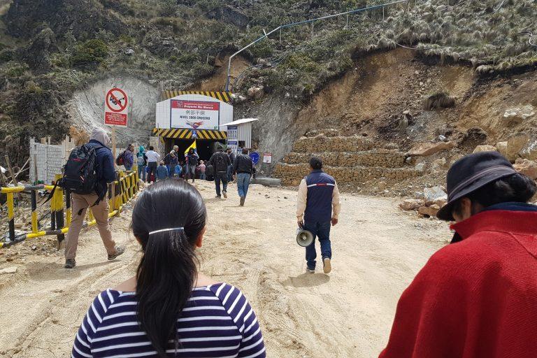 Personal de la Defensoría del Pueblo y otras autoridades realizaron una inspección en el proyecto minero Río Blanco, el 21 de junio pasado, en Cuenca, Azuay.