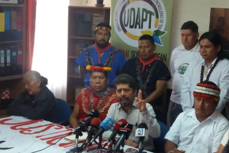 El abogado defensor de los afectados de Chevron, Pablo Fajardo, habló en rueda de prensa sobre la nueva sentencia de la Corte. Foto: Unión de Afectados por la Petrolera Chevron (Udapt).