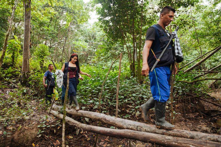 Los indígenas Siona viven en la Amazonía colombiana y ecuatoriana, a ambas orillas del río Putumayo. Foto: Brian Parker.