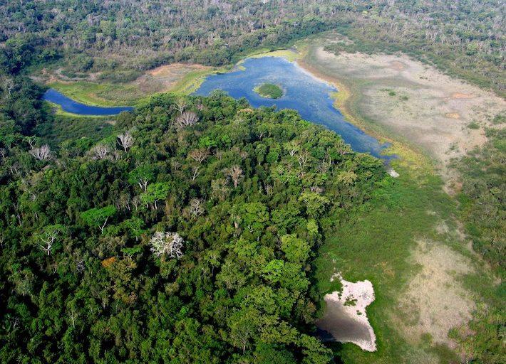 Vista panorámica del Parque Nacional Laguna del Tigre. Foto: Rodrigo Soberanes.