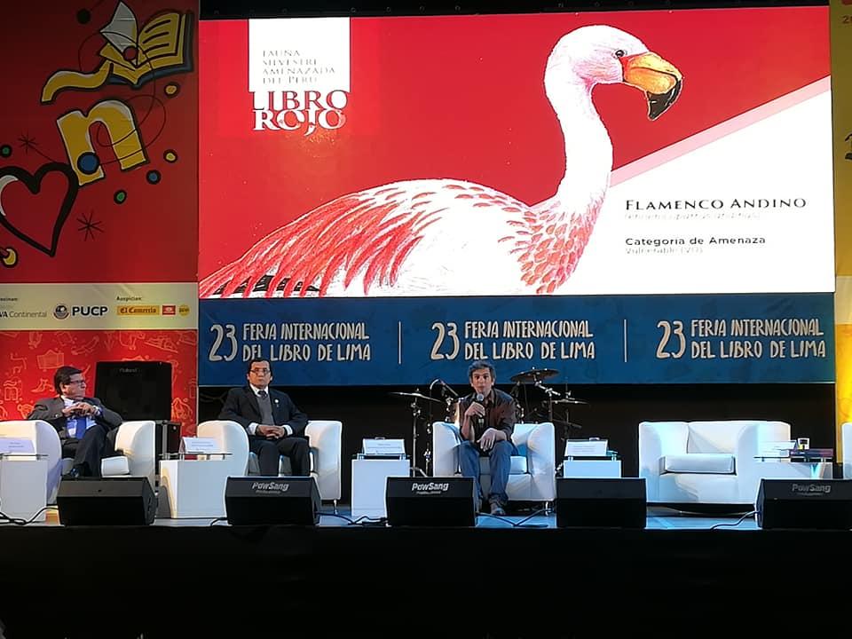 El Libro rojo de la fauna silvestre amenazada en Perú fue presentado en la Feria Internacional del Libro de Lima. Foto: Serfor.
