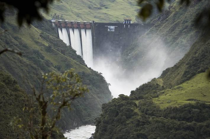 El complejo hidroeléctrico Paute abastece el 40% de la energía eléctrica del país. Foto: NCI - Fabián Rodas.