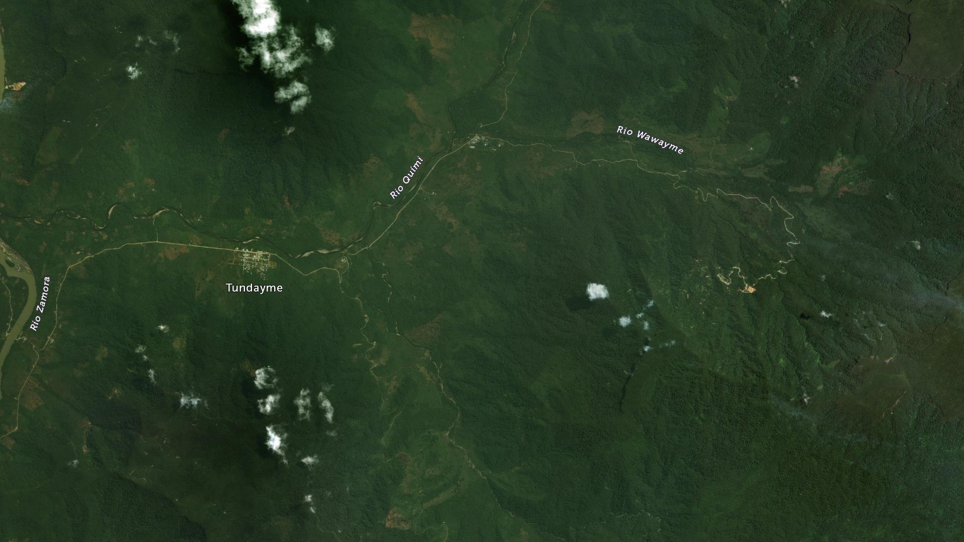 Esta imagen del año 2010 muestra el área de proyecto Mirador antes de los inicios de la construcción de la mina. Foto de DigitalGlobe compartida por cortesía de ACA_ACT