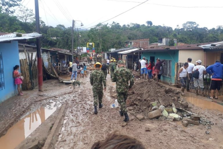 El agua y el lodo entraron a cientos de casas en Mocoa. Foto: UNGRD.