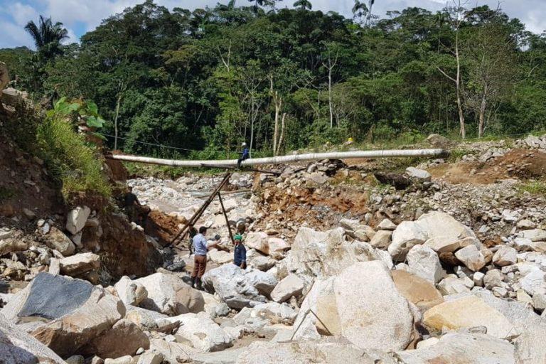 El acueducto de Mocoa fue uno de los más afectados por la crecida de los ríos Mocoa, Sangoyaco y Mulato. Foto: UNGRD.