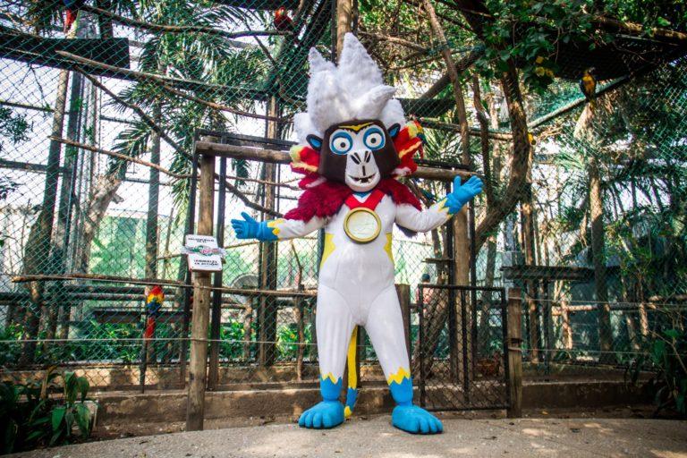 Baqui, un mono titi cabeciblanco, fue la muy popular mascota de los Juegos Centroamericanos y del Caribe 2018, celebrados en Barranquilla, Colombia. Foto: Twitter @AlejandroChar