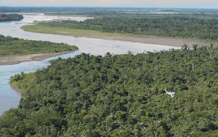 Una vista del Parque Nacional y Territorio Indígena Isiboro Sécure (Tipnis) en Bolivia. Foto: ABI.