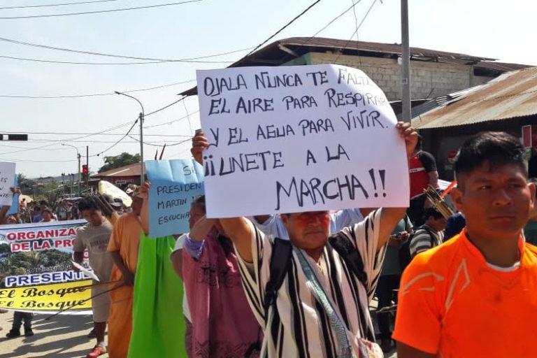 Las comunidades indígenas de Atalaya iniciaron un paro indefinido el 15 de agoto. Foto: Aidesep.