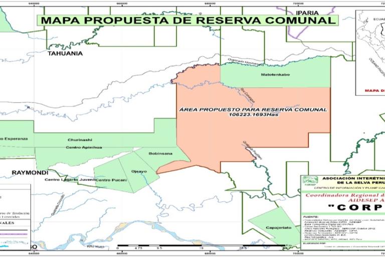 Entre sus propuestas figura la creación de reservas comunales. Fuente: Aidesep.