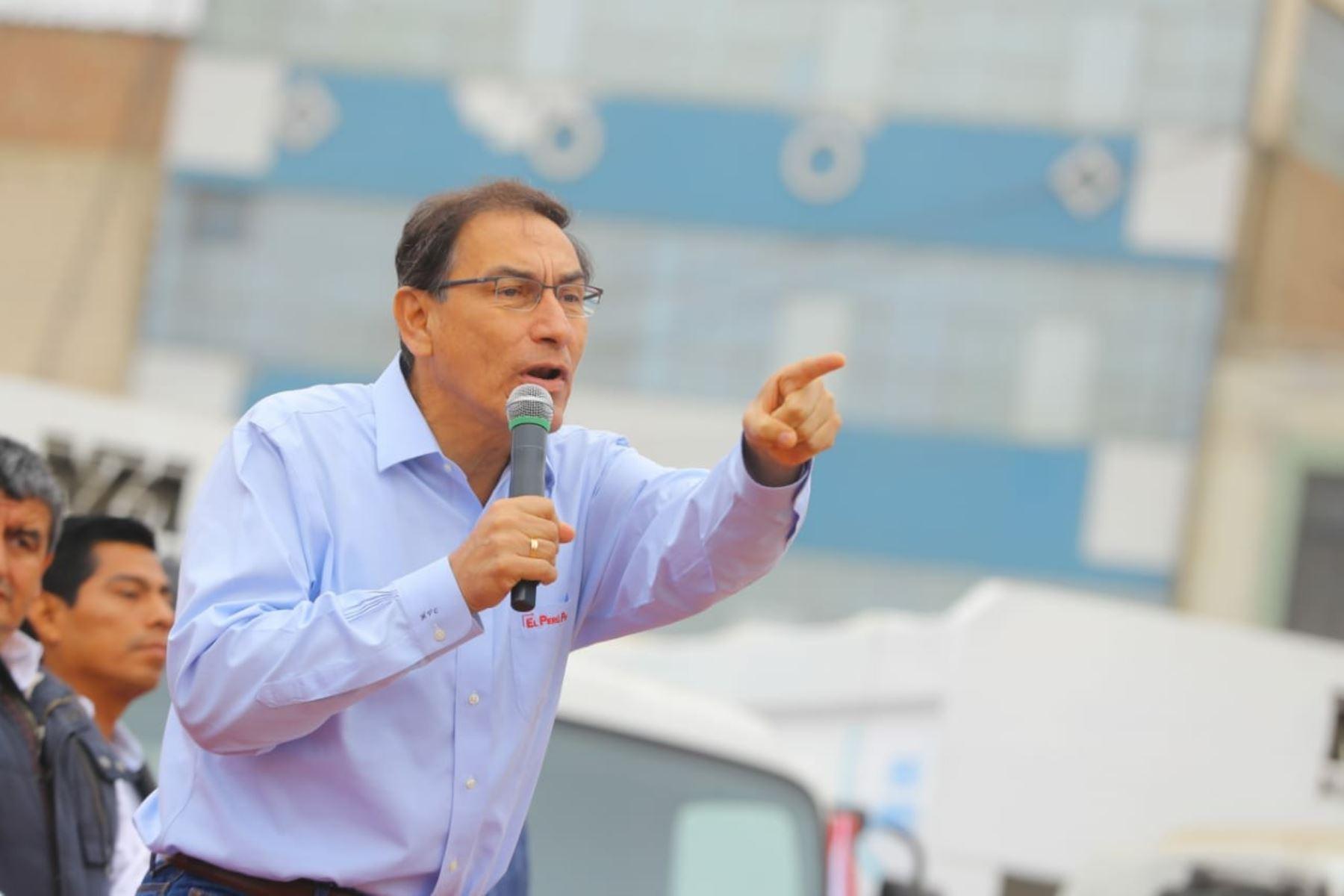 El presidente Martín en una ceremonia en el distrito de José Leonardo Ortiz, provincia de Chiclayo, región Lambayeque. Foto: ANDINA/Prensa Presidencia
